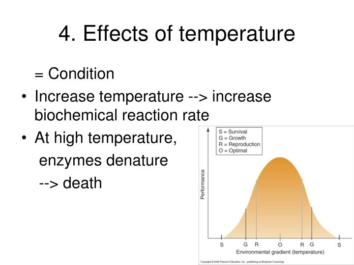 4. Effects of temperature