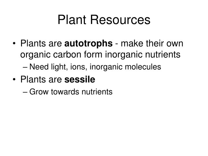 Plant resources