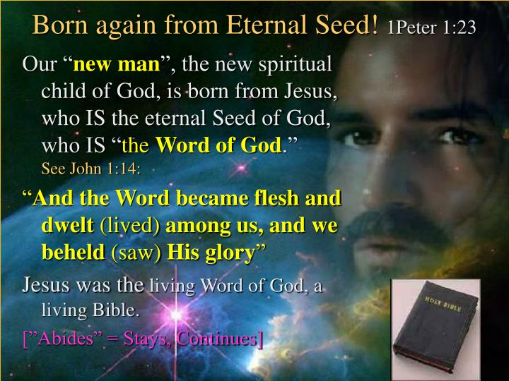Born again from Eternal Seed!