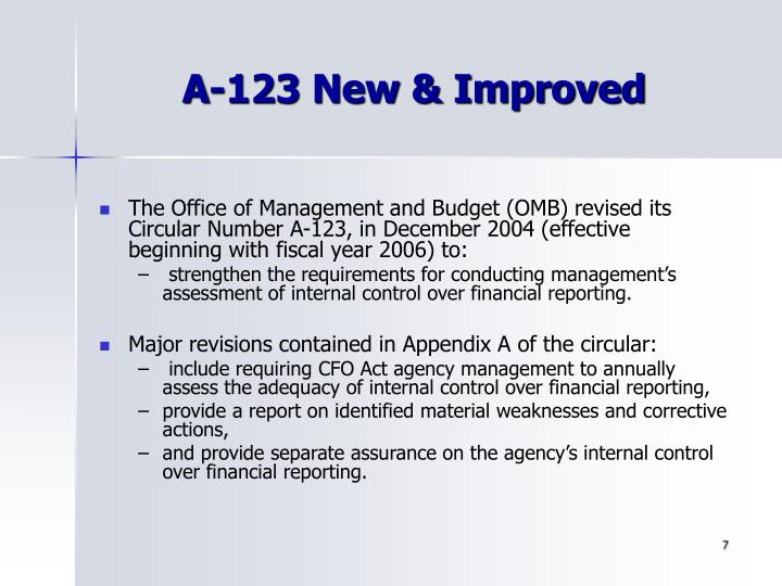 A-123 New & Improved