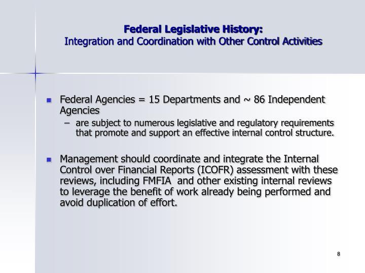 Federal Legislative History: