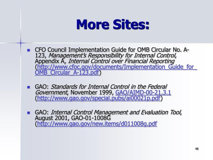 More Sites: