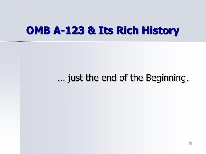 OMB A-123 & Its Rich History
