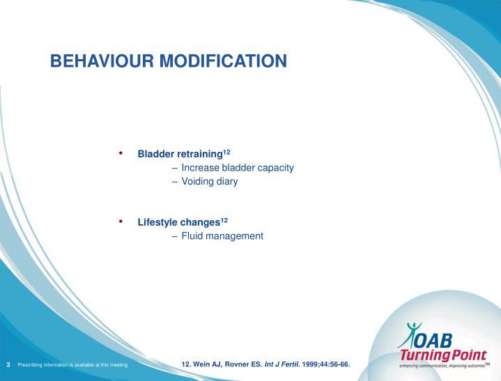 behavioural modification
