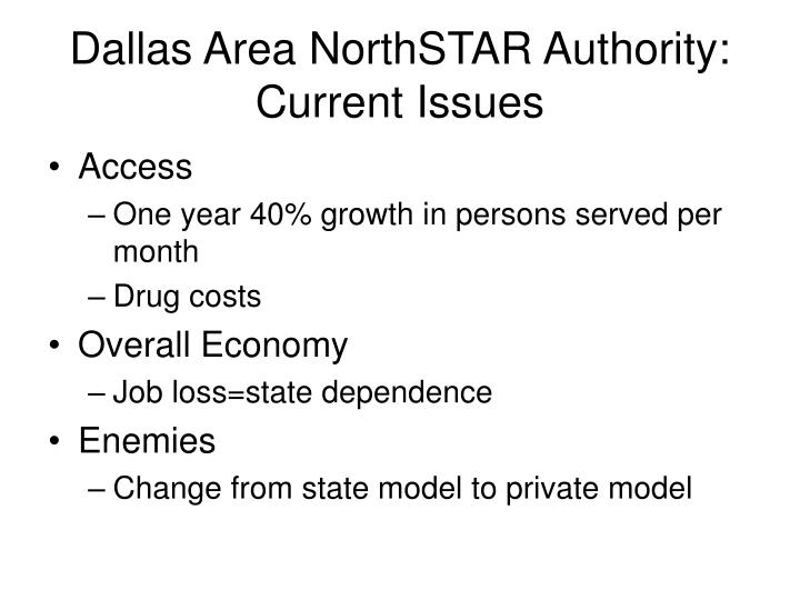 Dallas Area NorthSTAR Authority: