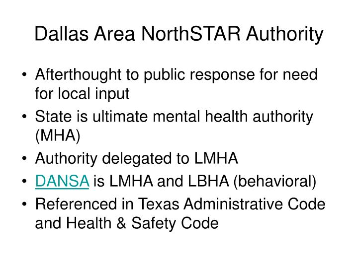 Dallas Area NorthSTAR Authority