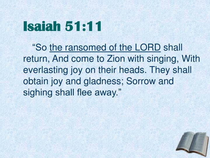 Isaiah 51:11