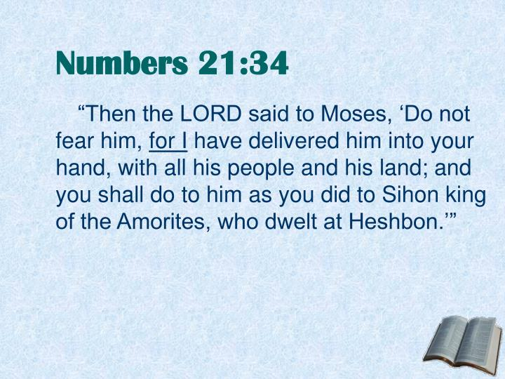 Numbers 21:34
