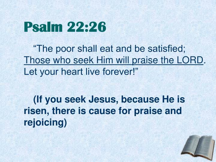 Psalm 22:26