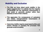 mobility and exclusion