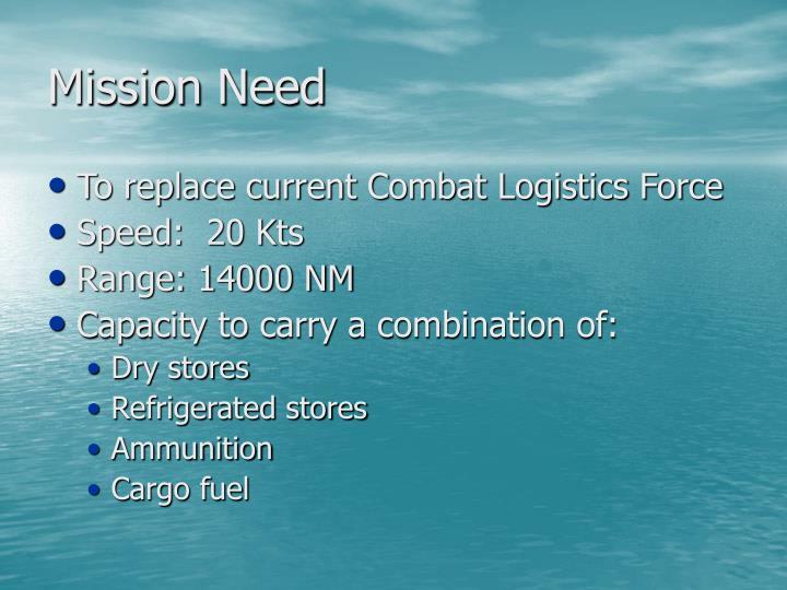 Mission Need