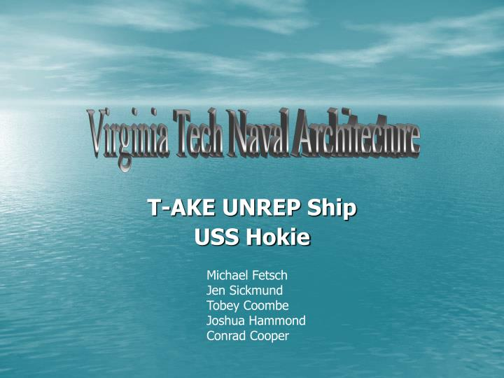 Virginia Tech Naval Architecture