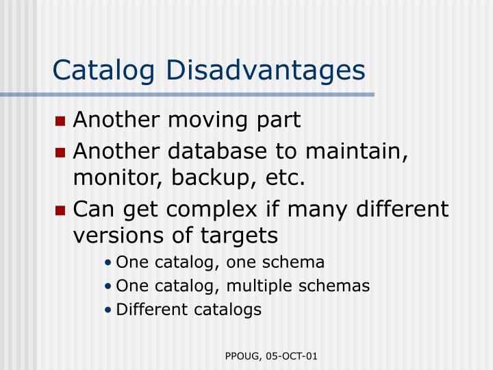 Catalog Disadvantages