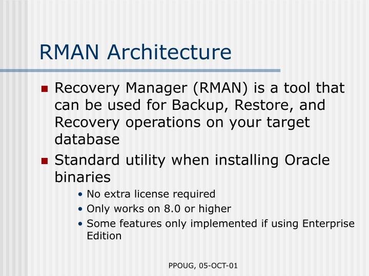 RMAN Architecture