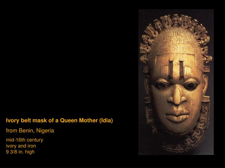 Ivory belt mask of a Queen Mother (Idia)