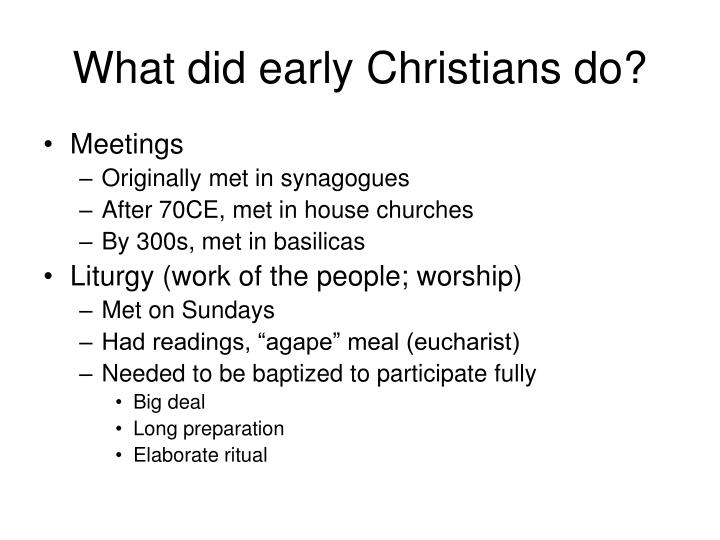 What did early Christians do?