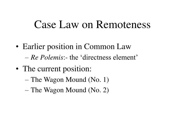 Case Law on Remoteness