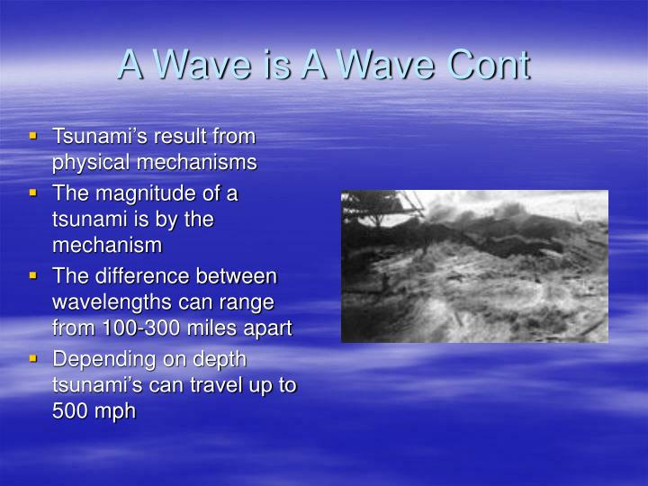 A Wave is A Wave Cont