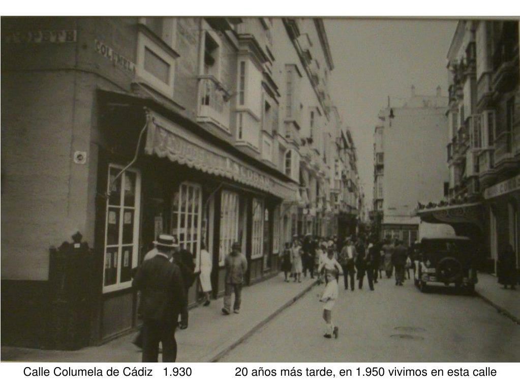 Calle Columela de Cádiz   1.930