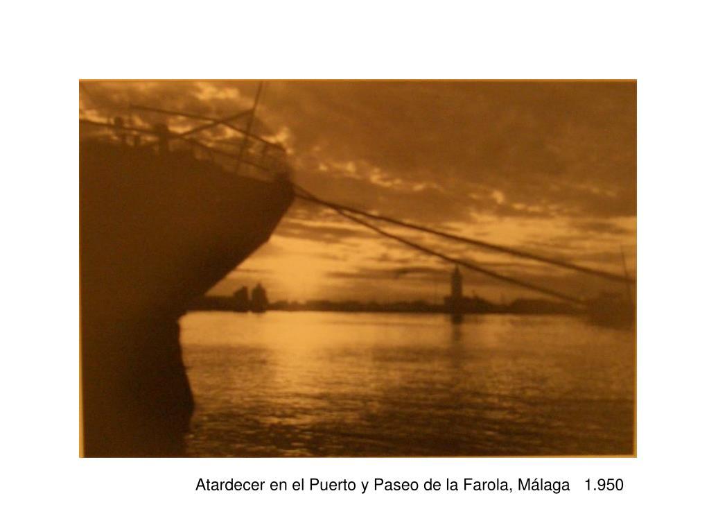 Atardecer en el Puerto y Paseo de la Farola, Málaga   1.950