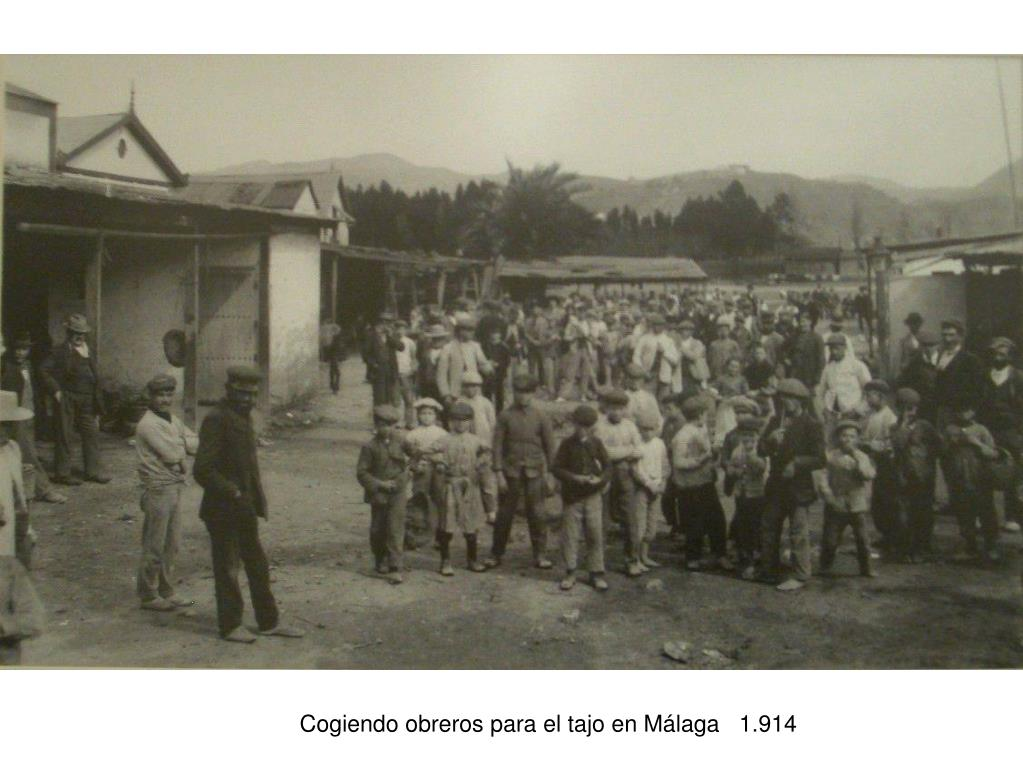 Cogiendo obreros para el tajo en Málaga   1.914
