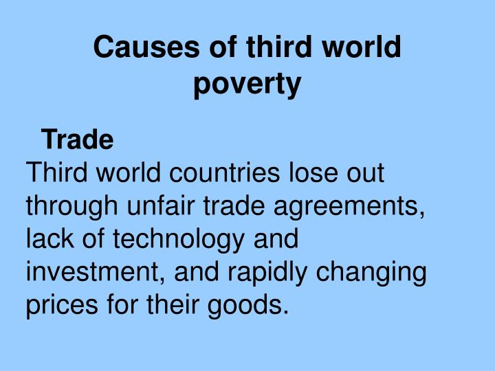 Causes of third world poverty