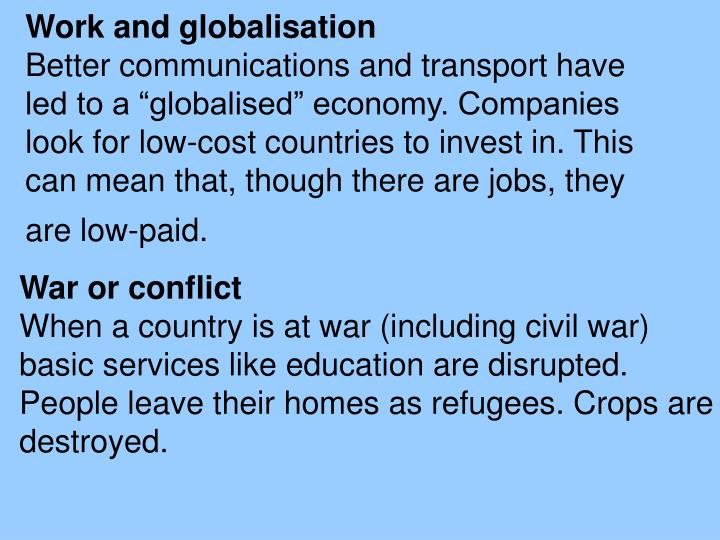 Work and globalisation