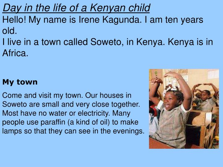 Day in the life of a Kenyan child