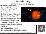 astrobiology a transdisciplinary enterprise