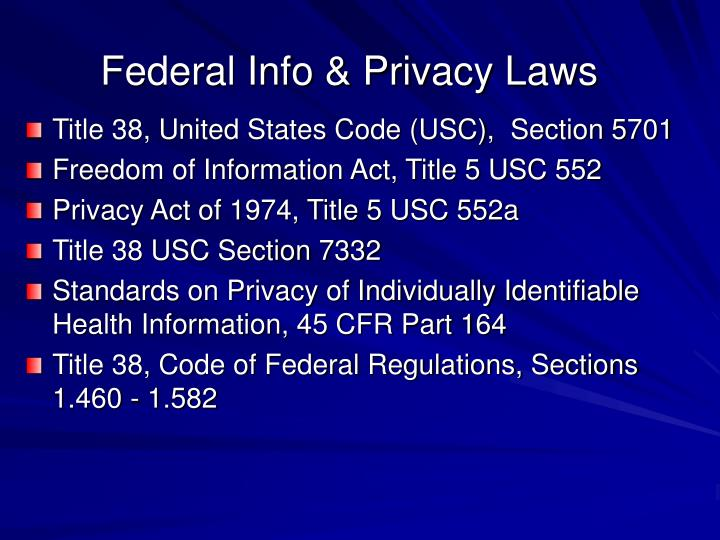 Federal info privacy laws