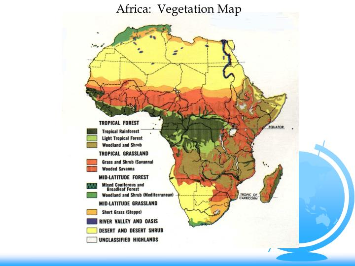 Africa:  Vegetation Map