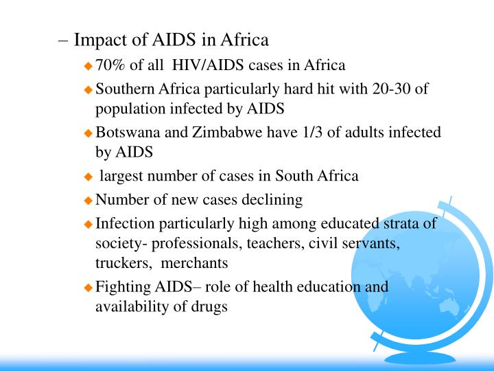 Impact of AIDS in Africa