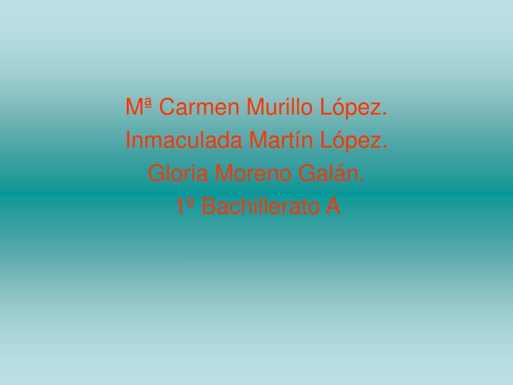 Mª Carmen Murillo López.