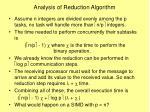 analysis of reduction algorithm