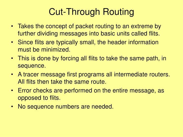 Cut-Through Routing