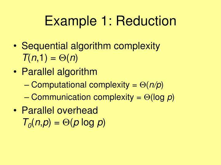 Example 1: Reduction