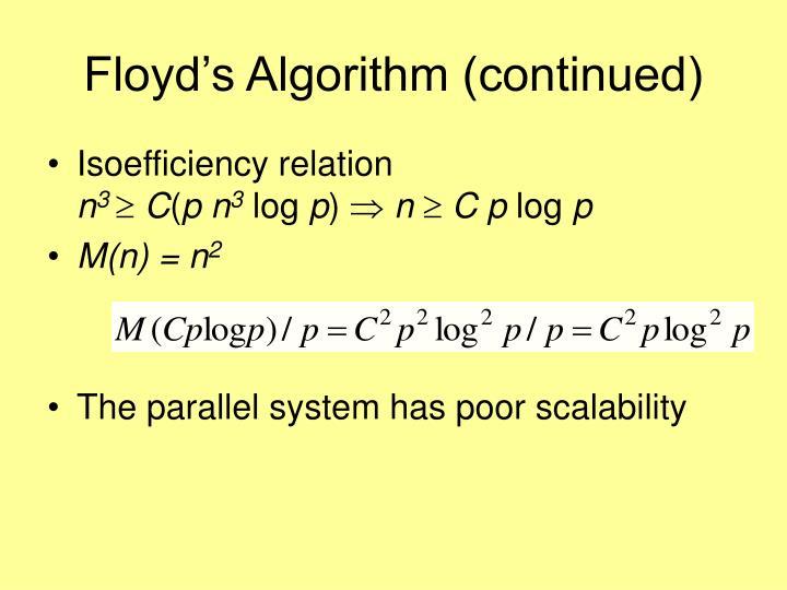 Floyd's Algorithm (continued)