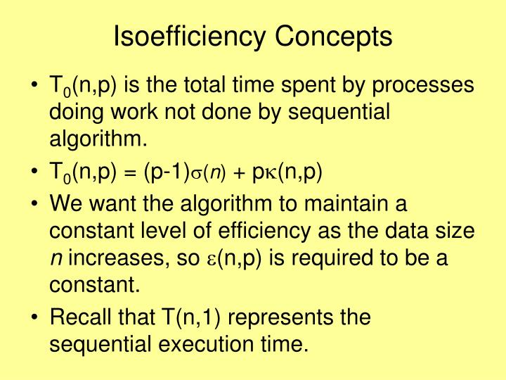 Isoefficiency Concepts