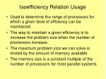 isoefficiency relation usage