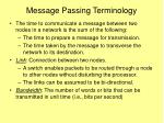 message passing terminology