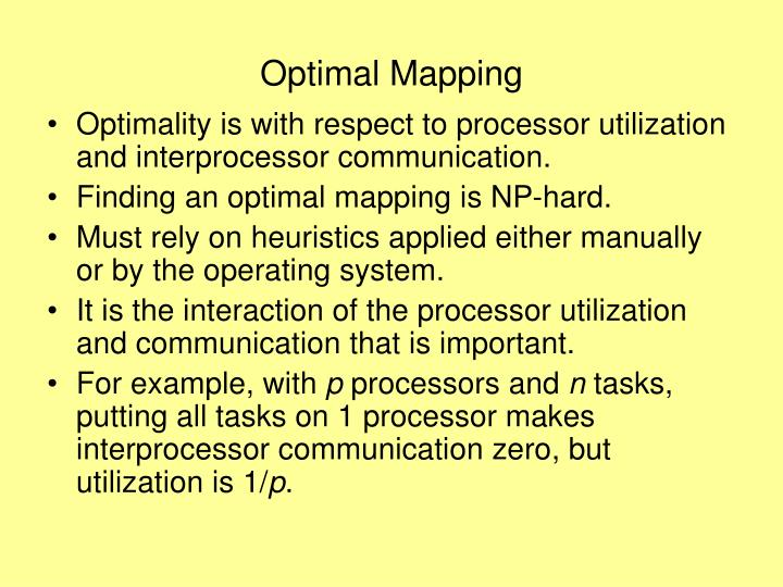 Optimal Mapping