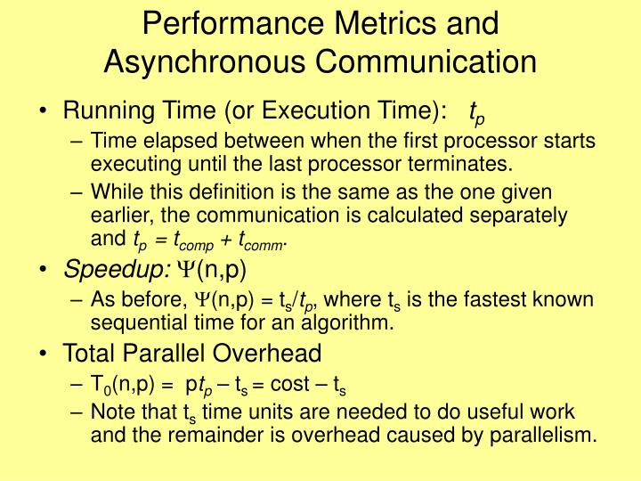 Performance Metrics and