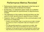 performance metrics revisited