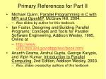 primary references for part ii