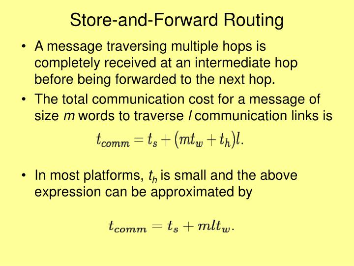 Store-and-Forward Routing