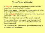 task channel model