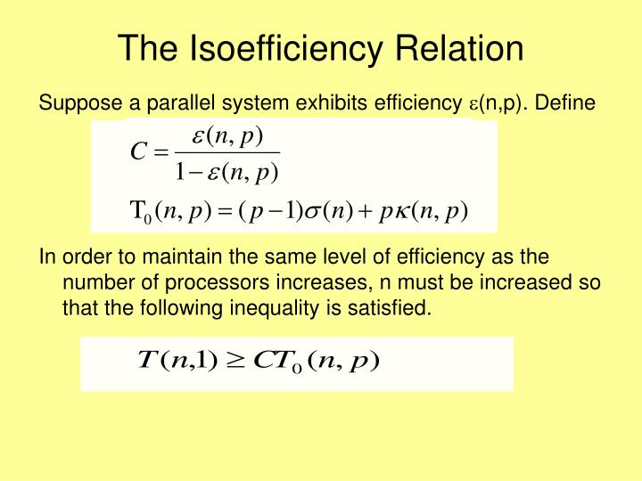 The Isoefficiency Relation