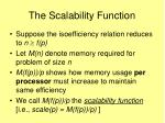 the scalability function