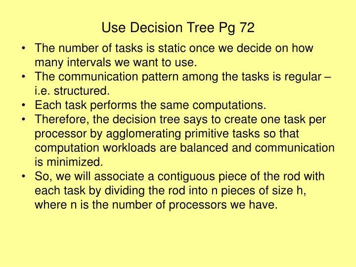 Use Decision Tree Pg 72