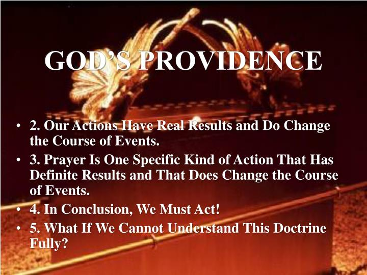 GOD'S PROVIDENCE